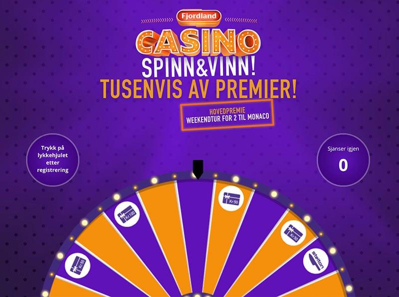 Fjordland Casino - webutvikling - investering i gode ideer