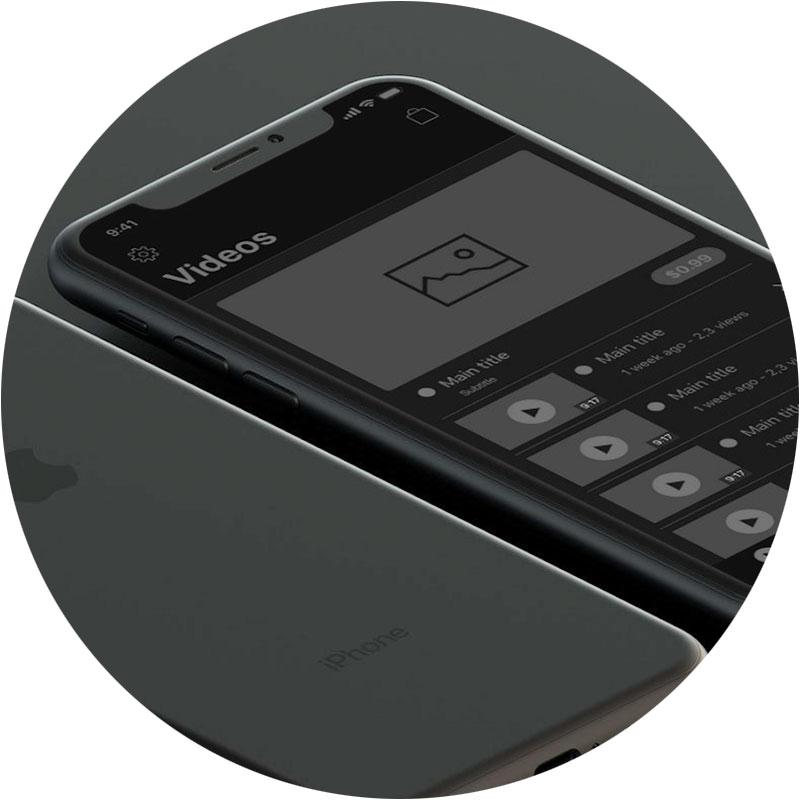 Wireframe for app - Studio X